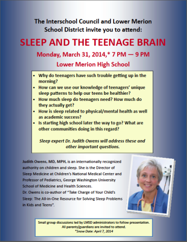"""Sleep and the Teenage Brain"" Event a Huge Success"